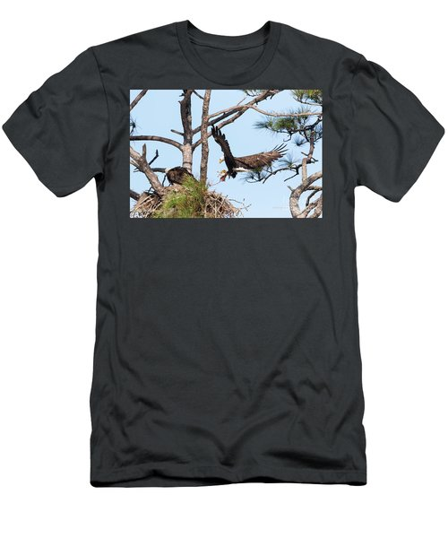 Men's T-Shirt (Slim Fit) featuring the photograph Incoming Food by Deborah Benoit