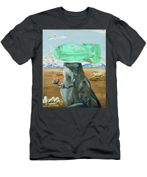 Men's T-Shirt (Athletic Fit) featuring the painting Incubator Of Anxiety by Ryan Demaree