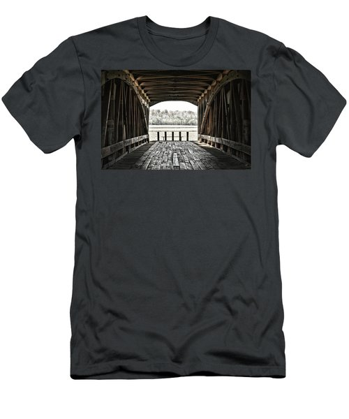 Inside The Covered Bridge Men's T-Shirt (Slim Fit) by Joanne Coyle