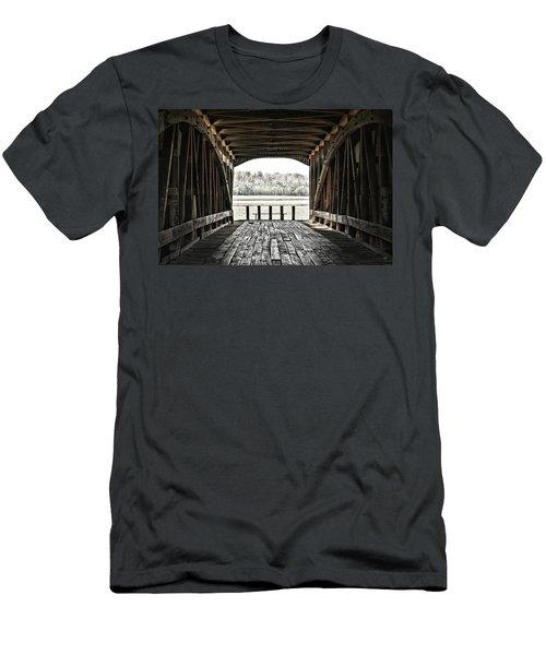 Inside The Covered Bridge Men's T-Shirt (Athletic Fit)
