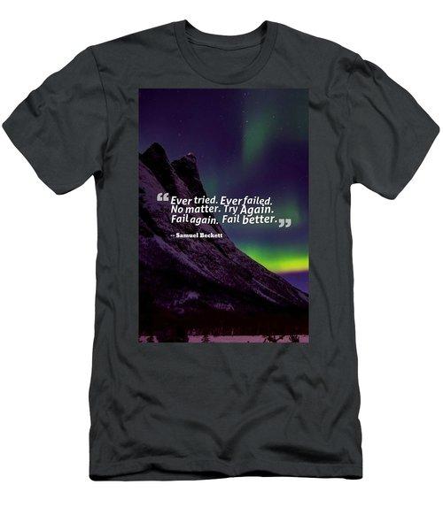 Inspirational Timeless Quotes - Samuel Beckett 2 Men's T-Shirt (Athletic Fit)