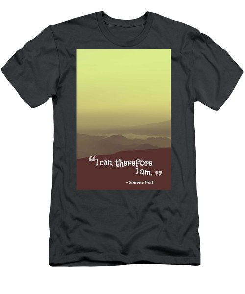Inspirational Timeless Quotes - Simone Weil Men's T-Shirt (Athletic Fit)