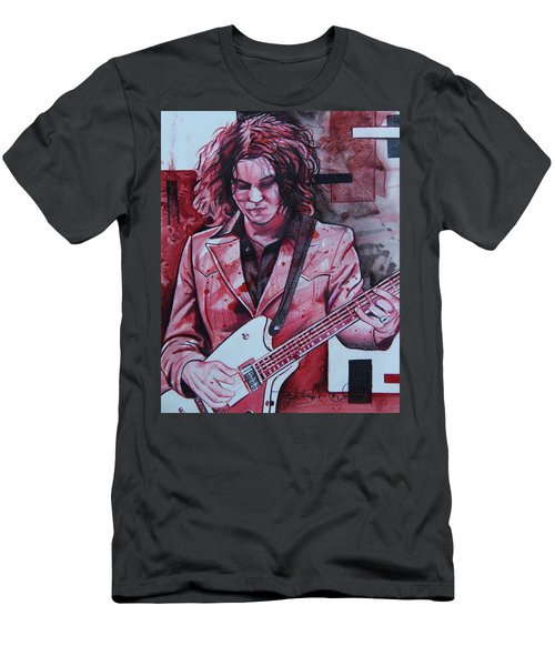 Men's T-Shirt (Slim Fit) featuring the drawing Jack White by Joshua Morton