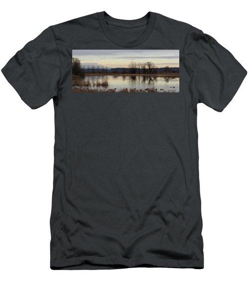 January Thaw 2 Men's T-Shirt (Slim Fit) by I'ina Van Lawick
