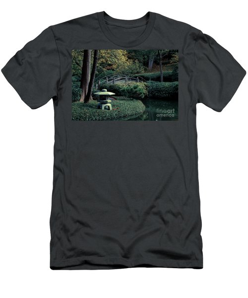Men's T-Shirt (Slim Fit) featuring the photograph Japanese Garden In Summer by Iris Greenwell