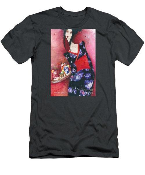 Japanese Girl Men's T-Shirt (Slim Fit) by Maya Manolova