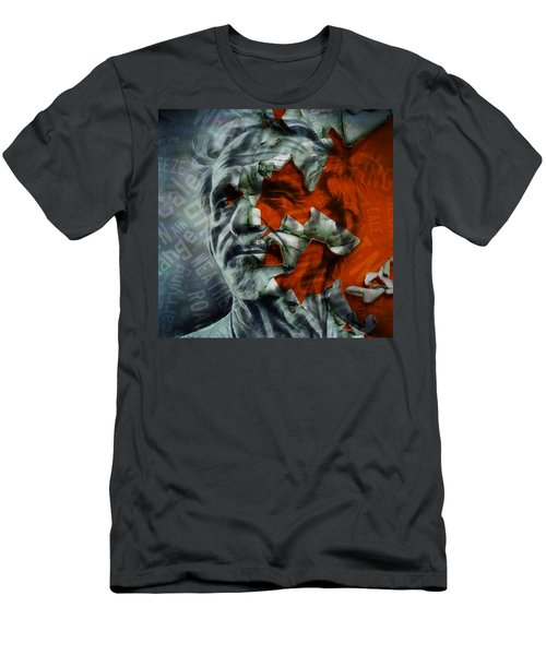 Men's T-Shirt (Athletic Fit) featuring the mixed media Jj Cale They Call Me The Breeze by Marvin Blaine