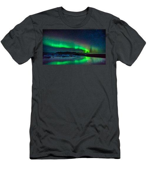 Jokulsarlon Aurora Men's T-Shirt (Athletic Fit)