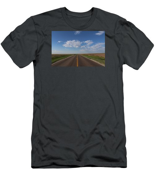 Kansas Road Men's T-Shirt (Slim Fit) by Suzanne Lorenz