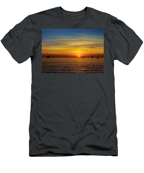 Key West Sunset Men's T-Shirt (Athletic Fit)