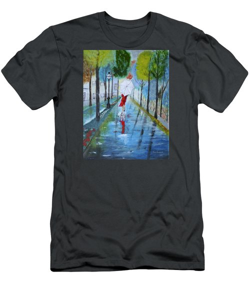Lady In Red Original Version Men's T-Shirt (Slim Fit) by Dick Bourgault