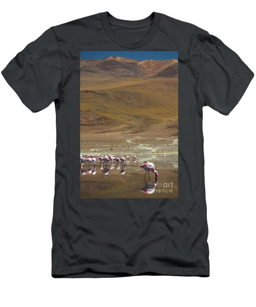 Laguna Colorada, Andes, Bolivia Men's T-Shirt (Slim Fit) by Gabor Pozsgai