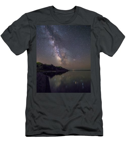 Men's T-Shirt (Slim Fit) featuring the photograph Lake Oahe  by Aaron J Groen