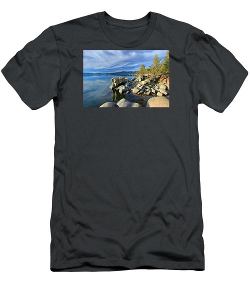 Men's T-Shirt (Athletic Fit) featuring the photograph Lake Tahoe Rocks by Sean Sarsfield