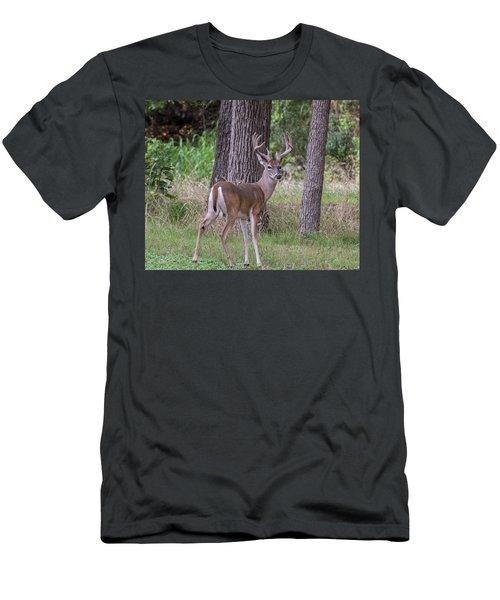Large Buck Men's T-Shirt (Athletic Fit)