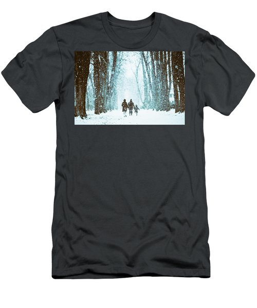 Let It Snow Men's T-Shirt (Athletic Fit)