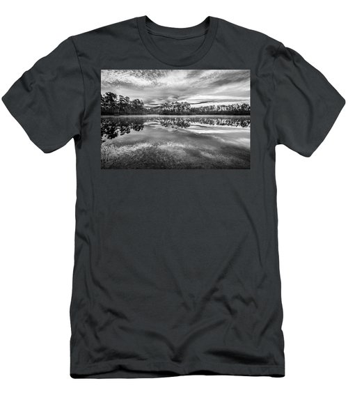 Long Pine Bw Men's T-Shirt (Slim Fit) by Jon Glaser