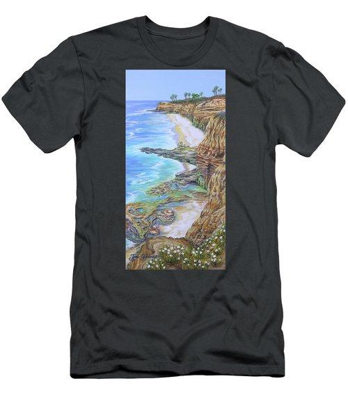 Low Tide Sunset Cliffs Men's T-Shirt (Slim Fit) by Jane Girardot
