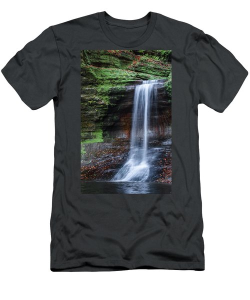 Lower Dells Falls Matthiessen State Park Oglesby Illinois Men's T-Shirt (Athletic Fit)
