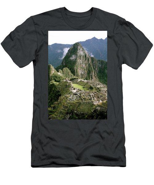 Machu Picchu At Sunrise Men's T-Shirt (Athletic Fit)