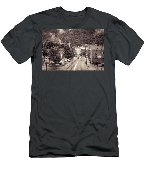 Men's T-Shirt (Slim Fit) featuring the photograph Main Street Webster Springs by Thomas R Fletcher