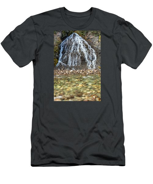 Cascades Of Maligne Canyon Men's T-Shirt (Athletic Fit)