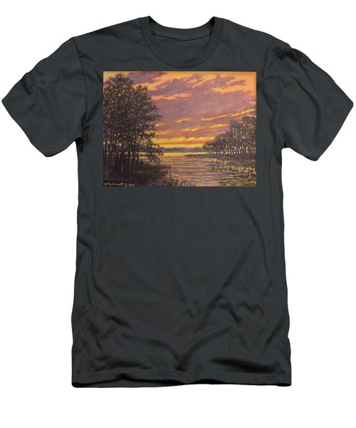 Men's T-Shirt (Slim Fit) featuring the painting Marsh Sketch # 7 by Kathleen McDermott