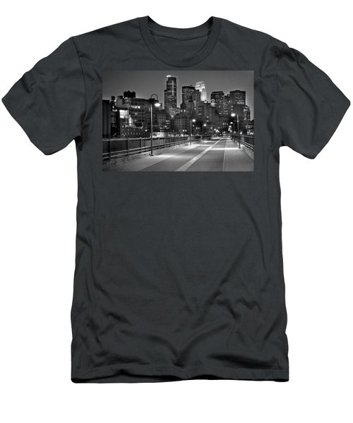 Minneapolis Skyline From Stone Arch Bridge Men's T-Shirt (Athletic Fit)