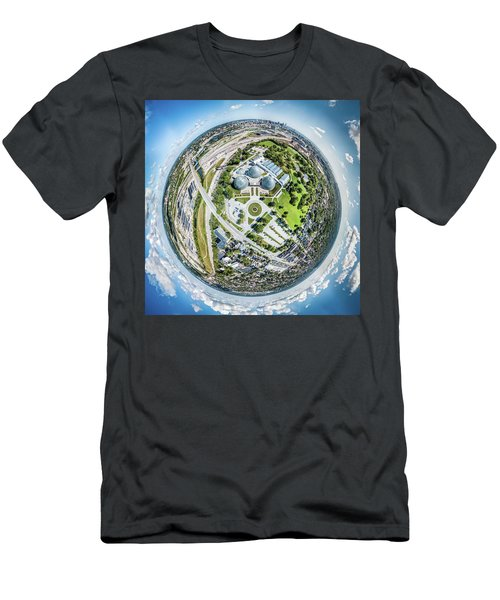 Men's T-Shirt (Athletic Fit) featuring the photograph Mitchell Park Domes by Randy Scherkenbach