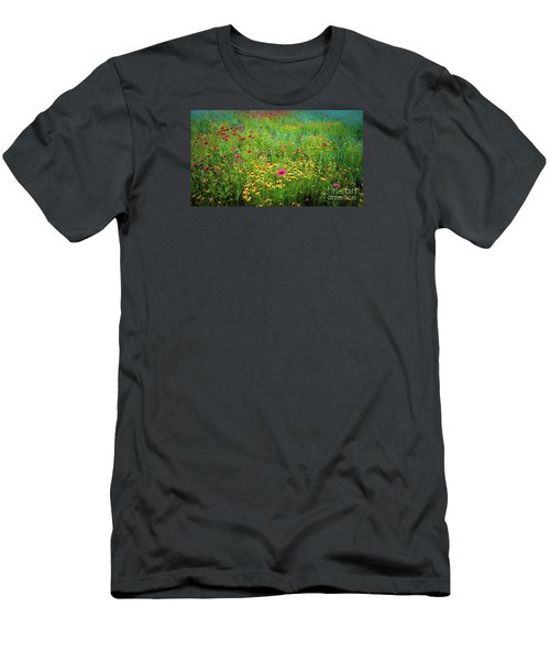 Mixed Wildflowers In Bloom Men's T-Shirt (Athletic Fit)
