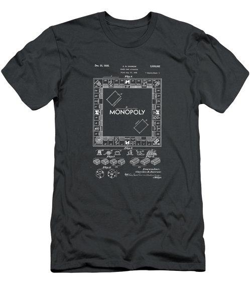 Monopoly Original Patent Art Drawing T-shirt Men's T-Shirt (Slim Fit) by Edward Fielding