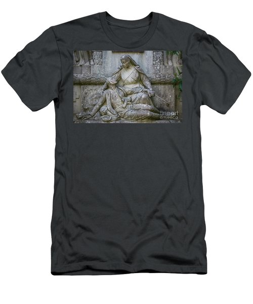 Men's T-Shirt (Athletic Fit) featuring the photograph Monument To The Duchess Of Victory Genoves Park Cadiz Spain by Pablo Avanzini