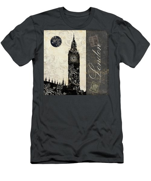 Moon Over London Men's T-Shirt (Slim Fit) by Mindy Sommers