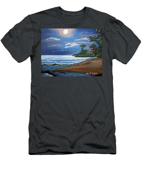 Moonlight In Rincon II Men's T-Shirt (Slim Fit) by Luis F Rodriguez