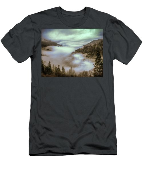 Men's T-Shirt (Slim Fit) featuring the photograph Morning Mountains II by Rebecca Hiatt
