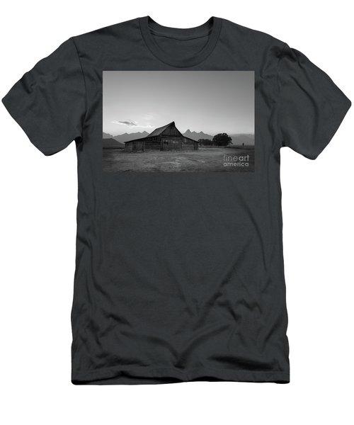 Moulton Ranch Sunset At Mormon Row  Men's T-Shirt (Athletic Fit)