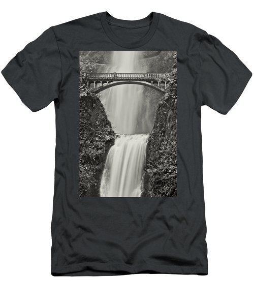 Multnomah Falls Upclose Men's T-Shirt (Slim Fit) by Don Schwartz