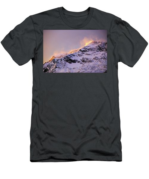 mystery mountains in North of Norway Men's T-Shirt (Athletic Fit)