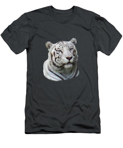 Namaste White Tiger Men's T-Shirt (Slim Fit) by Pamela Walton