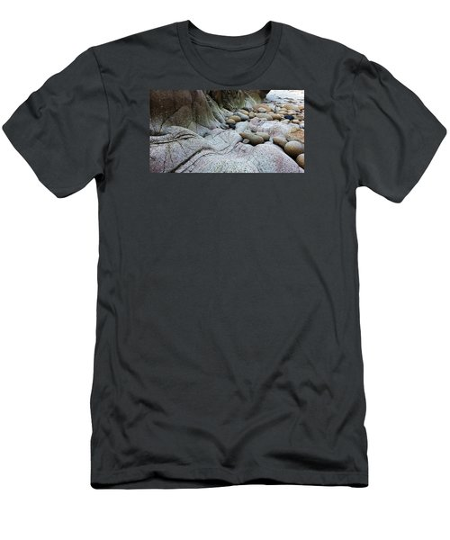 Men's T-Shirt (Athletic Fit) featuring the digital art Nanven Rocks by Julian Perry