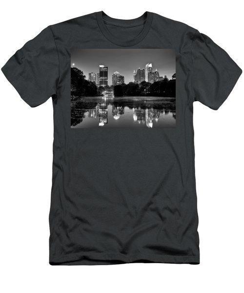 Night Atlanta.piedmont Park Lake. Men's T-Shirt (Athletic Fit)