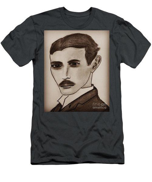 Nikola Tesla, Mad Scientist Men's T-Shirt (Athletic Fit)