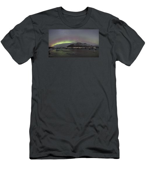 Northern Lights Panoramic Men's T-Shirt (Athletic Fit)