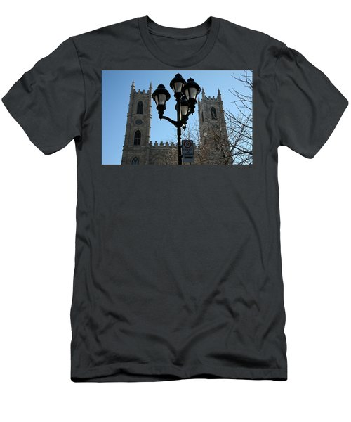 Notre Dame Basilica In Montreal Men's T-Shirt (Athletic Fit)