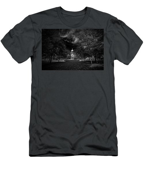 Men's T-Shirt (Slim Fit) featuring the photograph Notre Dame University Black White by David Haskett