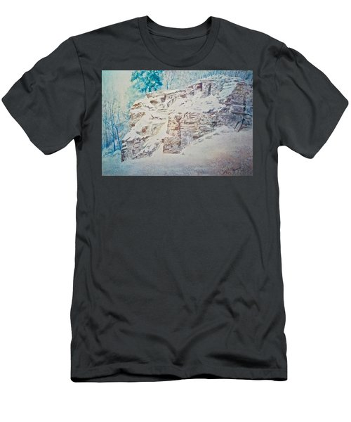 Men's T-Shirt (Slim Fit) featuring the painting Oakfield Ridge by Carolyn Rosenberger