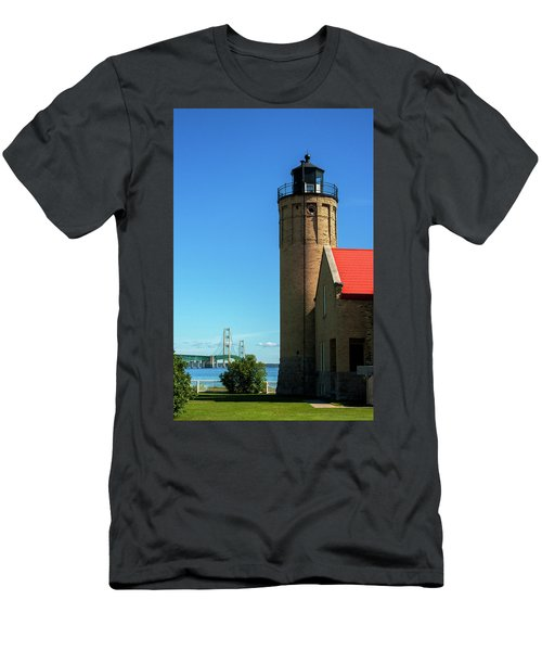 Old Mackinac Point Lighthouse Men's T-Shirt (Athletic Fit)