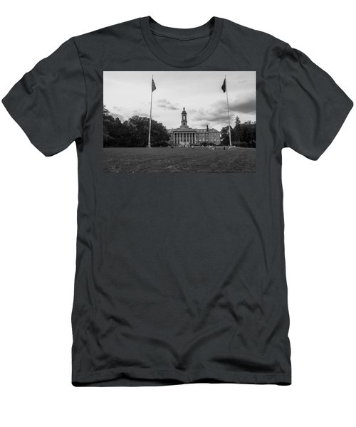 Old Main Penn State Black And White  Men's T-Shirt (Athletic Fit)
