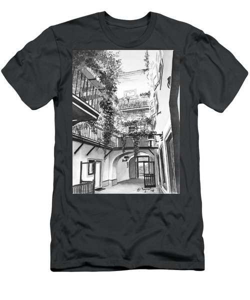 Old Viennese Courtyard Men's T-Shirt (Athletic Fit)