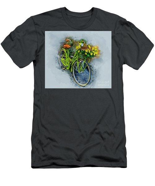 Olde Vintage Bicycle Men's T-Shirt (Athletic Fit)